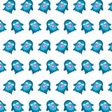 Blue ghost - sticker pattern 28 vector illustration