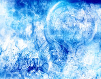 Blue ghostly shapes. Pattern of ghostly blue shapes and stains Stock Images