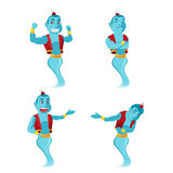 Blue Giant Genie Character Set Vector Stock Photos