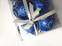 Blue gift 9 Stock Photography