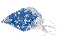 Blue gift bag Royalty Free Stock Photography