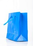 Blue gift bag Royalty Free Stock Image