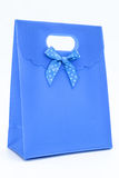 Blue gift bag. On a white background Royalty Free Stock Images