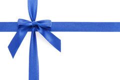 Blue gift bow Royalty Free Stock Image