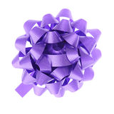 Blue gift bow Stock Photo