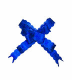 Blue gift bow Royalty Free Stock Photos