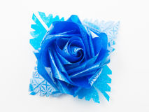 Blue gift bows with ribbons Royalty Free Stock Photo