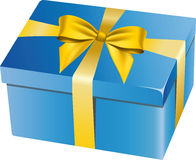 Blue gift box Royalty Free Stock Photos