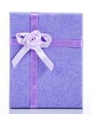 Blue gift box Stock Image