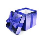 Blue gift box Royalty Free Stock Image