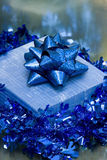 Blue gift box Royalty Free Stock Photo