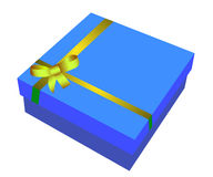 Blue gift box. Vector illustration stock illustration