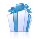 Blue gift box Stock Image