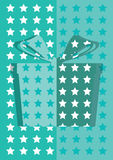Blue gift box background card Stock Images