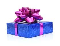 Blue gift box Royalty Free Stock Photos