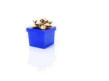 Blue gift box isolated royalty free stock images