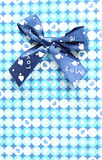 Blue gift box with a lid isolated. Royalty Free Stock Images