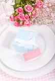Blue gift box Royalty Free Stock Photo