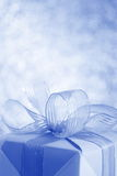 Blue Gift Box - Stock Photo Royalty Free Stock Image