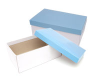 Blue gift boxes Royalty Free Stock Photos