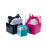 Blue gift boxes Stock Images