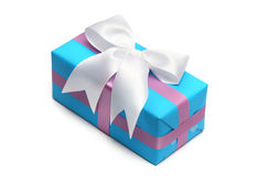 Blue gift boxs Royalty Free Stock Images