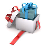 Blue Gift In Gift Royalty Free Stock Images