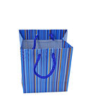Blue gift pack isolated Royalty Free Stock Photography