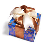 Blue gift with path Stock Image
