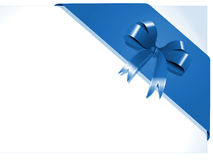 Blue gift ribbon Stock Image