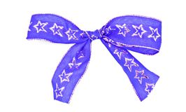 Blue gift ribbon Royalty Free Stock Images
