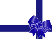Blue gift ribbon Royalty Free Stock Photos