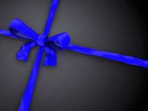Blue gift ribbon Royalty Free Stock Image