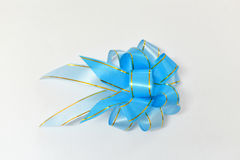 Blue gift ribbon Stock Image