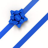 Blue gift ribbons in diagonal array Royalty Free Stock Image