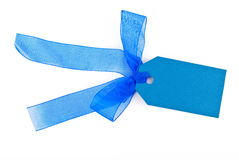 Blue gift tag Royalty Free Stock Photos