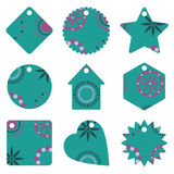 Blue gift tags Royalty Free Stock Photo