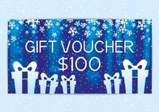 Blue gift voucher. Stock Photography