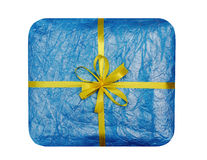 The blue gift which is elegantly packed Stock Images