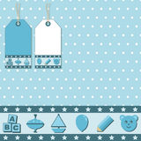 Blue gift wrapping Royalty Free Stock Photography