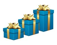 Blue gifts shopping graph Stock Photo