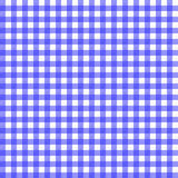 Blue gingham. Pattern with faint texture to resemble fabric Royalty Free Stock Photos