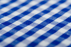 Blue Gingham Background Stock Photo