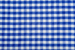 Blue Gingham Background. Blue Gingham or checked tablecloth background Royalty Free Stock Images