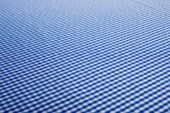 Blue Gingham Background Stock Photos