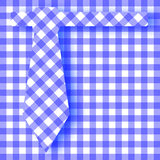 Blue Gingham Farhers Day Background. The pattern of a blue gingham tie background ove the same pattern Royalty Free Stock Image