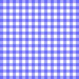Blue Gingham Material Background. The pattern of a blue gingham table cloth Stock Images
