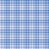Blue gingham pattern background. Royalty Free Stock Photo