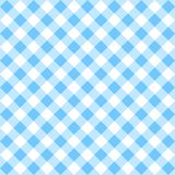 Blue gingham pattern. Seamless Checkered seamless Pattern. Blue and white tablecloth background. Picnic gingham cloth template. Retro craft art print curtains royalty free illustration
