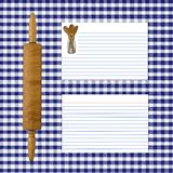 Blue Gingham Recipe Page Royalty Free Stock Photography